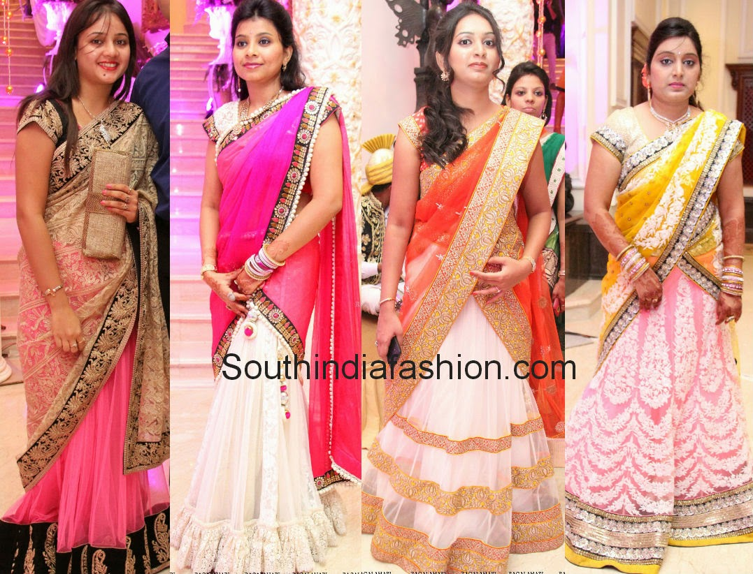 latest celebrity half sarees