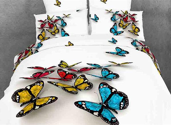 copriletto 3D con farfalle