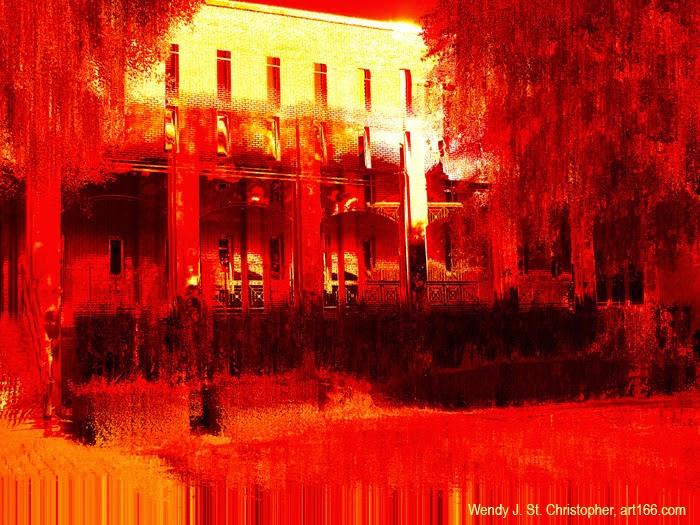 Burning hot southern landscape image by Wendy J St Christopher art166.com