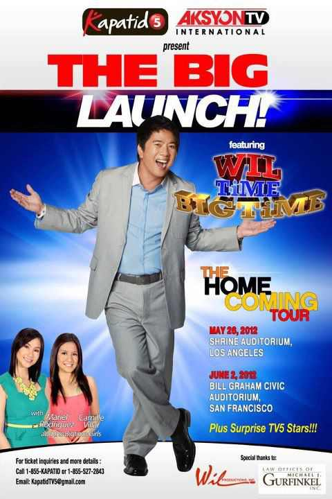 tv5 international the home coming tour wil time big time