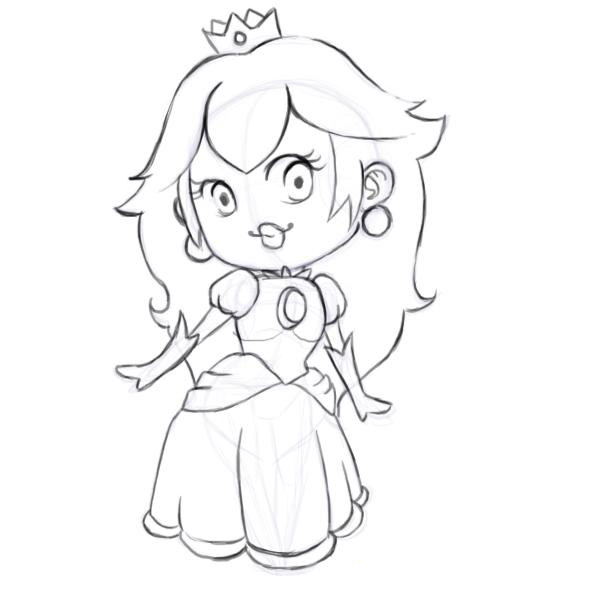 Coloring Pages Princess Peach Game title=