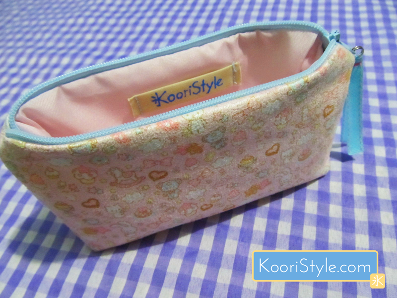 Cute Kawaii Pink Zippered Pouch KooriStyle