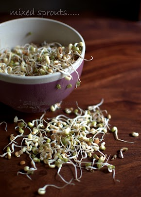 health benefits of sprouts: few recipes with sprouts and how to sprout lentils at home...