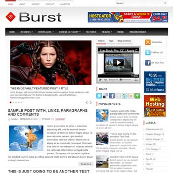 Burst blog template. template image slider blog. magazine blogger template style. wordpress theme to blogger. template blog 3 column