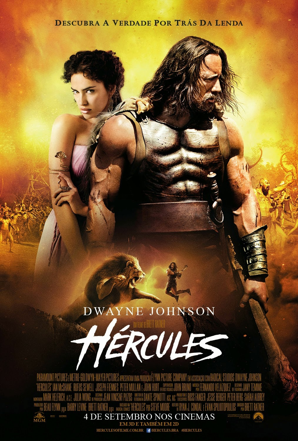 H  233 rcules 2014 Dublado HDDwayne Johnson Hercules Movie Poster
