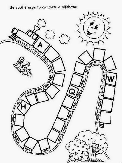 Muito Sugestões de Atividades .. Prof.ª Ana Franciele: Trilha do alfabeto NA19