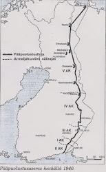 Salpalinjan linnoitussuunnitelma 1940