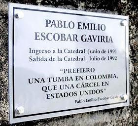 Escobar: 'Prefiero una tumba en Colombia que una cárcel en Estados Unidos'