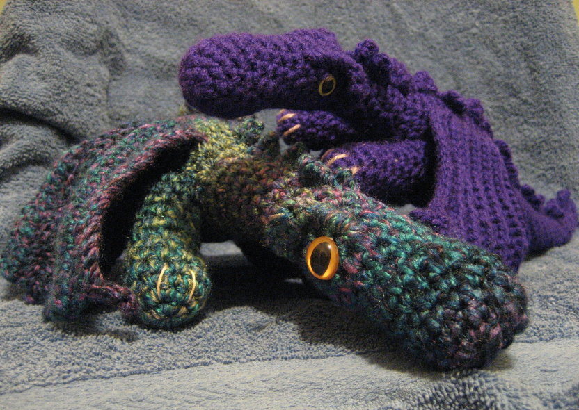 Free Crochet Dragon Afghan Pattern : Cthulhu Crochet and Cousins: Here Be Dragons