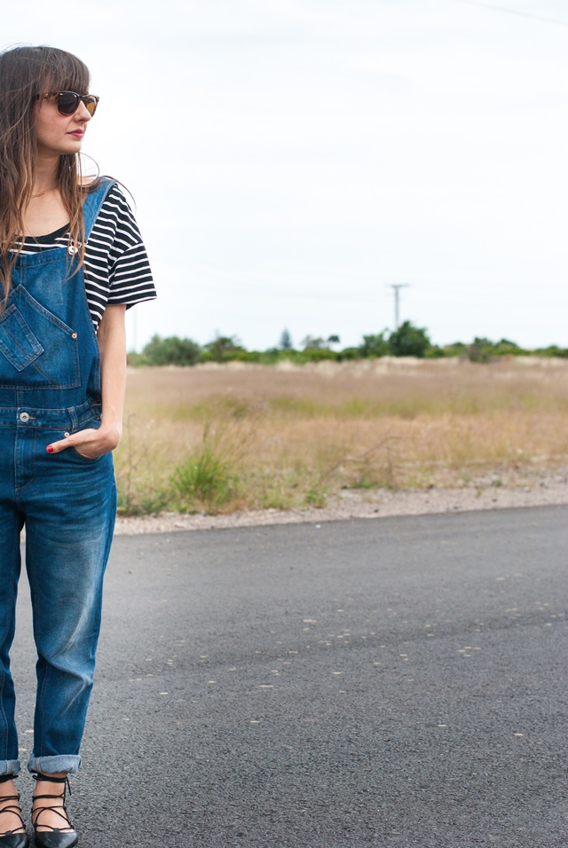 Denim Dungaree Look