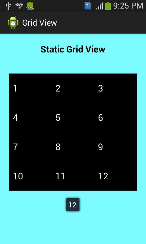 Simple GridView