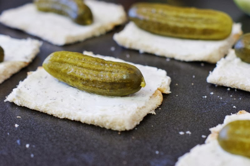 Making Dill Pickle Bites