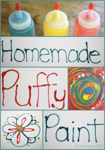 homemade puffy paint with 3 simple ingredients learn play imagine