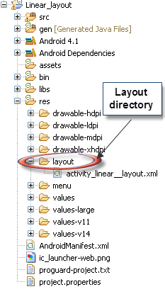 Linear Layout Directory Structure