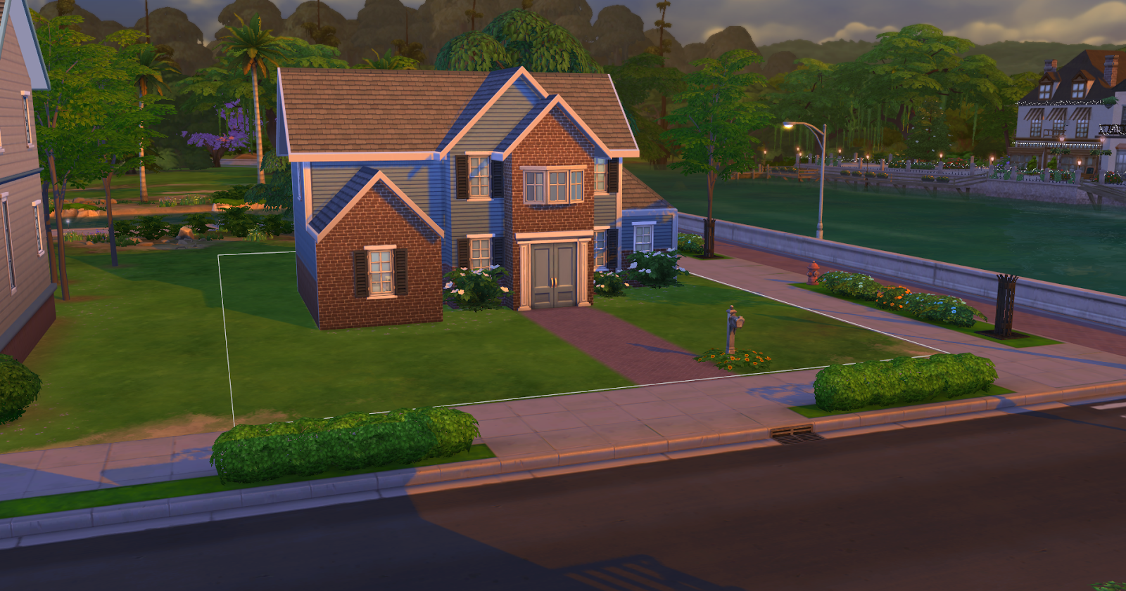 Sims 4 builds simple american starter sims 4 house for Simple american house