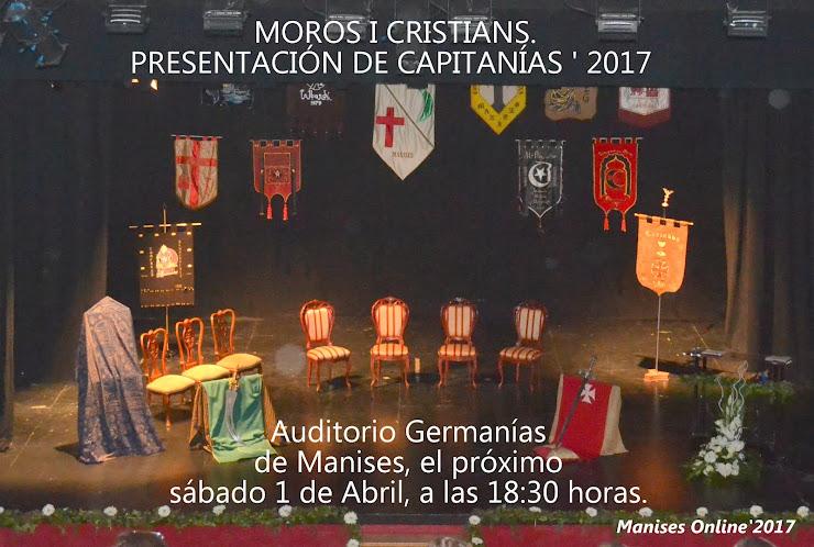 AM 02 MOROS I CRISTIANS 2017, PRESENTACIO CAPITANIES