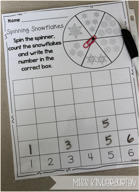 Miss Kindergarten {spin and count}