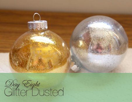 a glass ornament decorated 10 ways glitter dusted by kersey - Glass Christmas Bulbs For Decorating