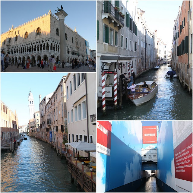 St Mark Square and canals in Venice, Italy