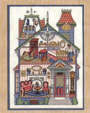 Cross Stitch Dollhouses Victorian Dollhouse