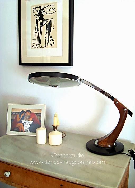 Lámparas de mesa vintage. Flexos de despacho FASE, LUPELA, MAOF, GEI