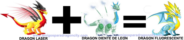 como sacar el dragon fluorescente en dragon city combinacion 2