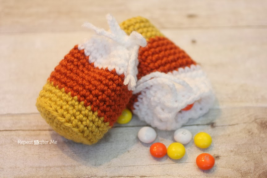 Crochet Candy Corn Pouch Pattern Repeat Crafter Me