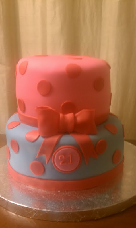 Cakes By Lala 21st Hot Pink Red And Carolina Blue Cake