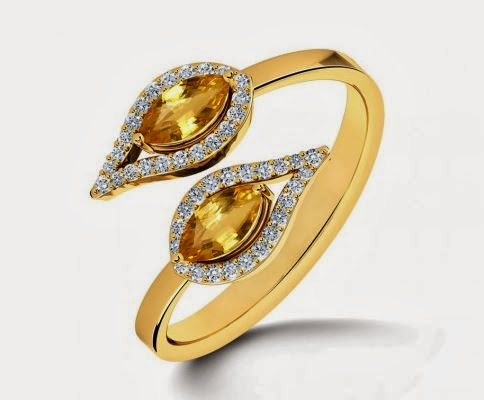 You & I Citrine Gold Ring