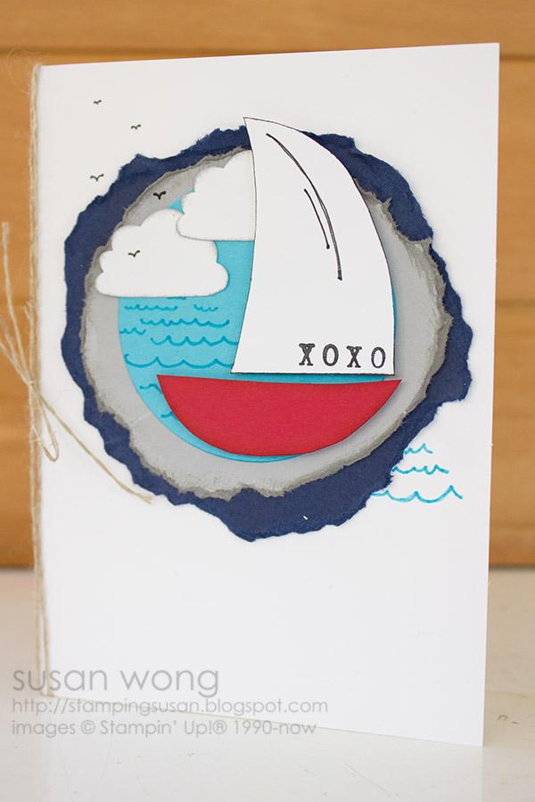 Susan Wong. Sail Boat 'xoxo' Card.