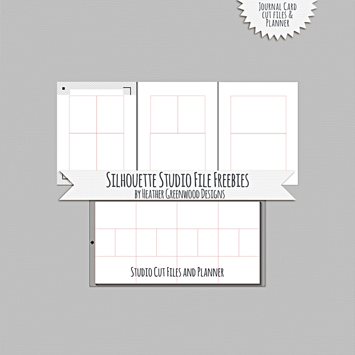 Heather Greenwood Designs | Free Silhouette Studio Files for pocket cards and a planner