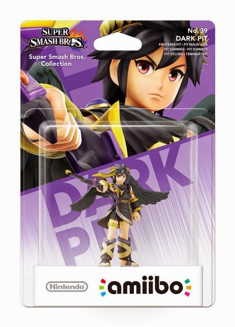 JUGUETES - NINTENDO Amiibo  39 : Figura Dark Pit | Oscuro - Sombrío | Kid Icarus  (Junio 2015) | Videojuegos | Muñeco | Super Smash Bros Collection  Plataforma: Wii U & Nintendo 3DS