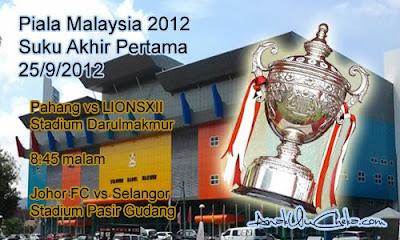 Keputusan Selangor Vs Johor Fc Piala Malaysia 25 September 2012