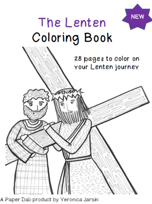 the lenten coloring and activity book available now