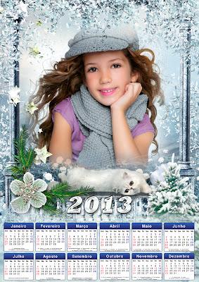 Calendario 2013 muito legal,em PSD com espaço para fotos e base 2013 ...