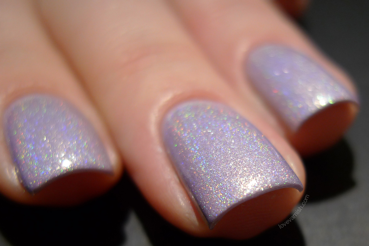 Too Fancy Lacquer Lilac Rains pastel purple holo