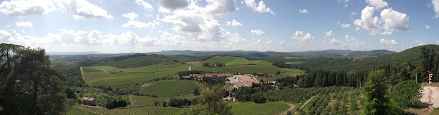 wonderful view from castle brolio