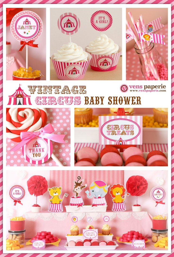 Vintage Circus Baby Shower Theme 736 x 1088