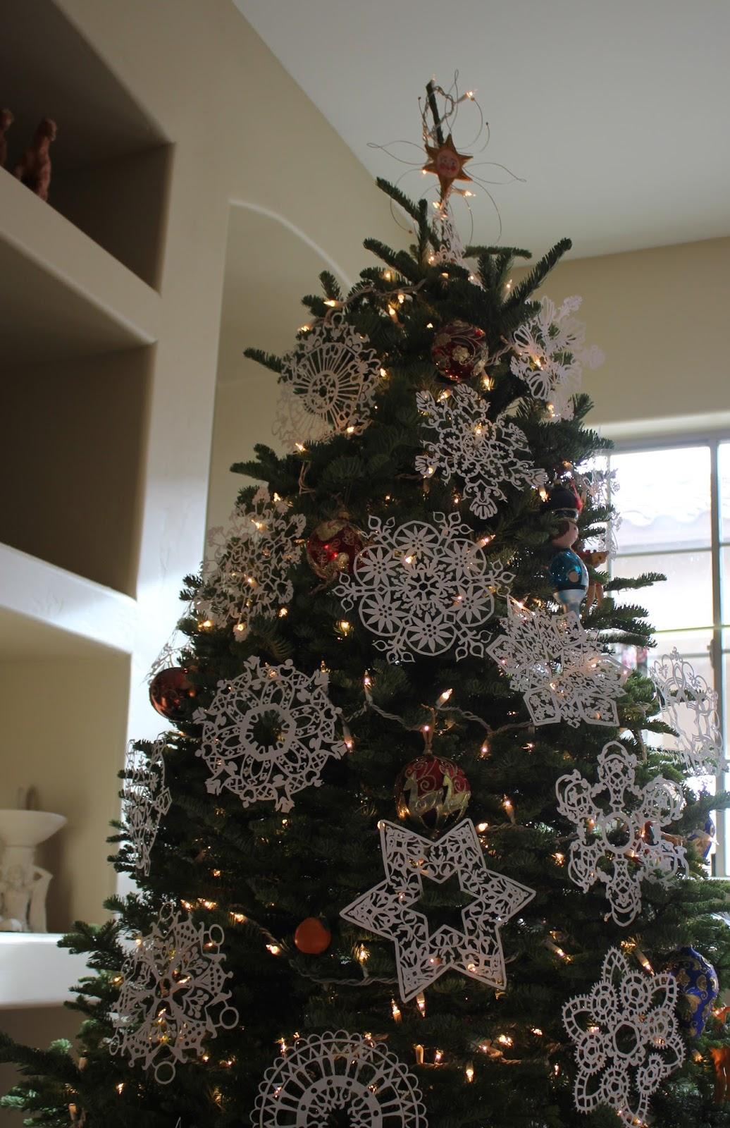 Christmas Tree And Snowflakes Sarah Myers