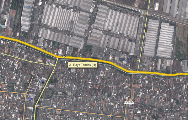 Peta Sedot WC Tandes Surabaya Barat