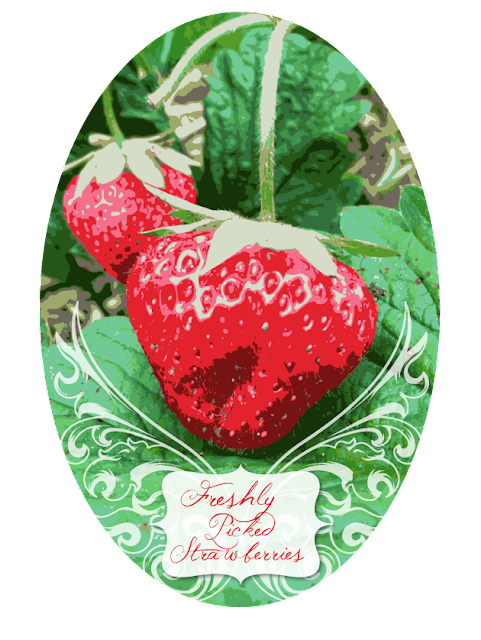 Strawberry design clock theme auto design tech - Strawberry themed kitchen decor ...