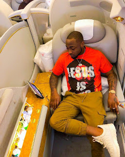 Davido off to Dubai