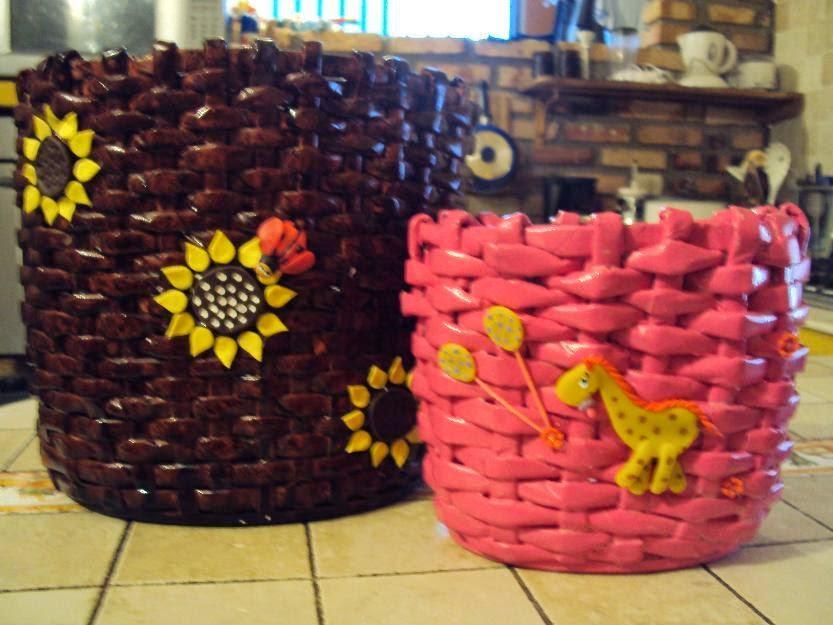 Monta un negocio de cestas artesanales