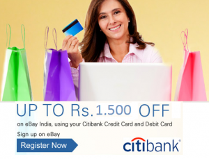 Ebay 15% Instant Discount for CITI Bank users (No Min Purchase)