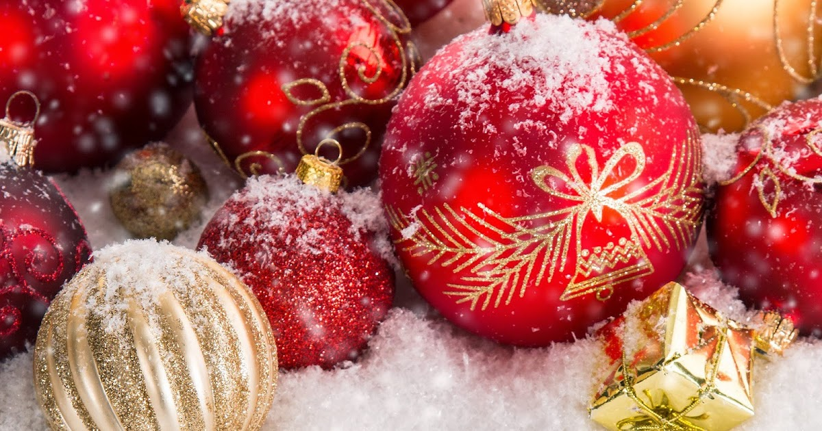 Foto rote weihnachtskugeln hd hintergrundbilder - Bilder weihnachtskugeln ...