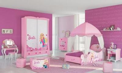 Dise o de habitaciones de barbie para ni as decora festa - Habitaciones pequenas para ninas ...