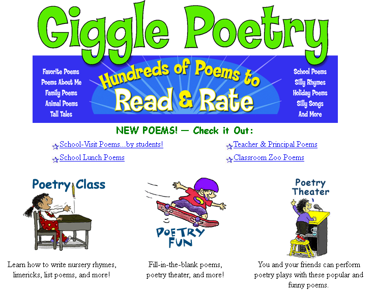 giggle poetry who doesnt love funny poems this site has lots of funny poems for children to giggle away you can explore poetry theater poetry class - 30 Limerick Examples Funny Cooperative