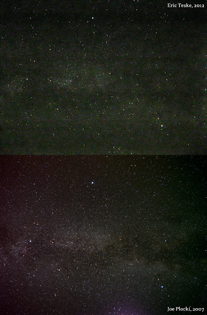 milky way in summer triangle compare