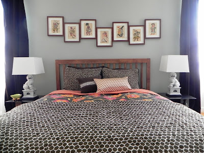 The Rug Is From West Elm. The Collection Of Vintage Japanese Prints Are  Housed In Inexpensive Pottery Barn Framesu2014a Smart Way To Use Catalog  Staples.