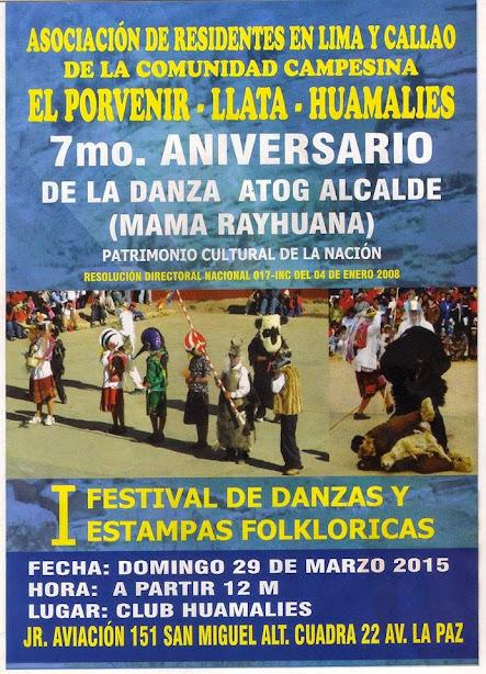 RESIDENTES EN LIMA DE EL PORVENIR PRESENTAN EL PRIMER FESTIVAL DE DANZAS